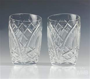 2 Waterford Crystal Lismore Old Fashioned Glasses