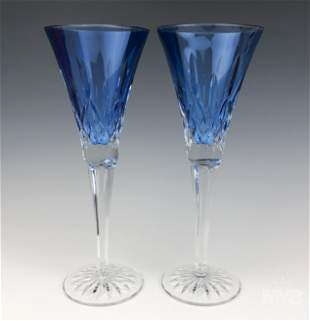 Waterford Crystal Lismore Sapphire Champagne Flute