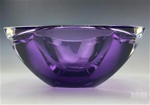 Waterford Metra Amethyst Lead Crystal Square Bowl
