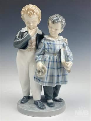 "Royal Copenhagen 8"" Children Porcelain Figurine"