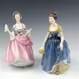2 Royal Doulton Ballad Seller & Melanie Figurines