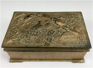Japanese Mixed Metals Birds Repose Jewelry Box