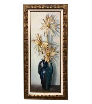 Betti Bernay 1926-2010 Corn Stalk In Vase Painting