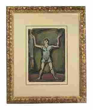 Georges Rouault (1887-1958) Man Aquatint Etching