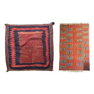 """Turkish 42"""" Hand Knotted Kilim Wool Area Rugs LOT"""