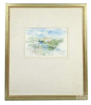 Shirley Felts 20 C Watercolor Landscape Painting