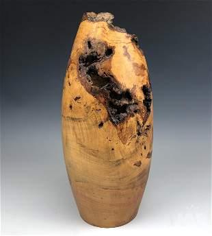 Knud Oland (1921-1991) Burled Maple Wood Vase