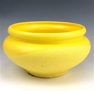 Haeger Yellow Textured Ceramic Art Pottery Planter