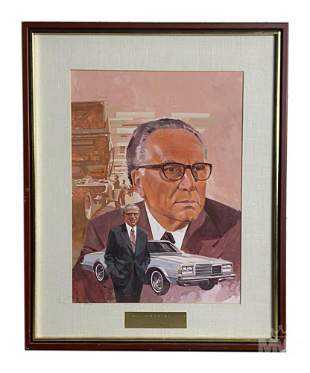 Mystery Artist Figural Man Portrait Oil Painting