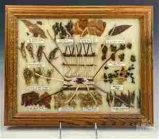Navajo Indian Vegetal Wool Hand Woven Dye Chart