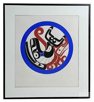 Joe David (b. 1946) Native American Serigraph 1981