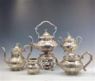 Israel Freeman & Son Silver Plate Service Tea Set