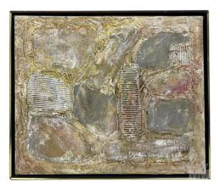 Mystery Artist Mixed Media Art Abstract Painting