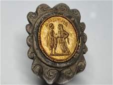 Ancient Roman Silver Wedding Ring OMONOIA