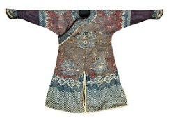 "A Fine Chinese Manchurian ""Kesi"" Winter Dragon Robe"