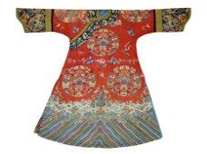 A Fine Chinese Silk Dragon Robe