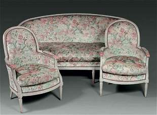 A Set of Sofa and Armchairs