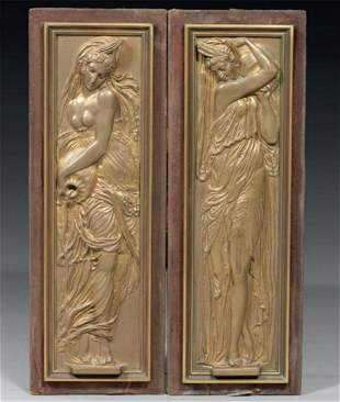 A Pair of Bronze Carvings