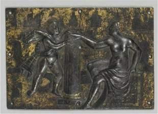 A Fine Bronze Plaque