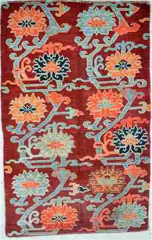 "A Tibetan ""Twelve-Lotus"" Carpet"