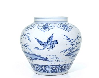 A Very Fine Chinese Blue and White Porcelain Jar