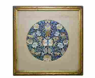 A Chinese Silk Roundel