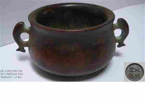 Chinese Antique Bronze Incense Burner 宣德