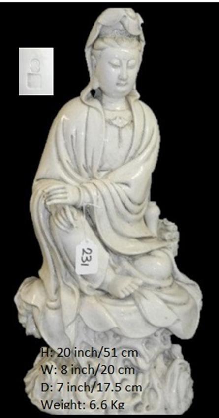 Chinese Blanc de Chine Dehua Guanyin 何朝