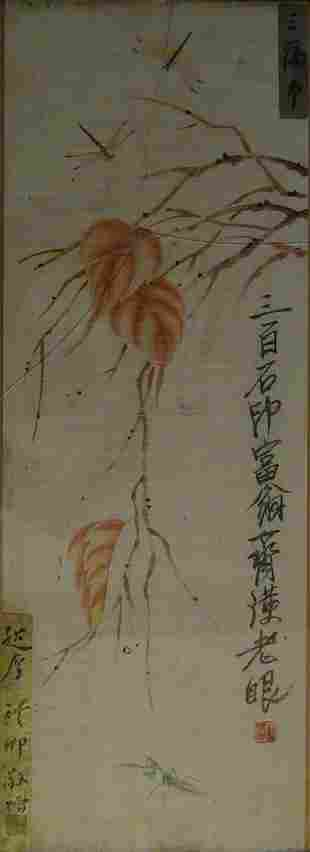Chinese Antique Painting Framed QI BAI SHI