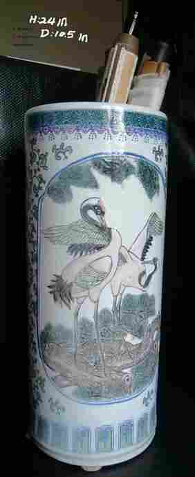 SUPPER LARGE CHINESE SCROLL PAINTING CONTAINER