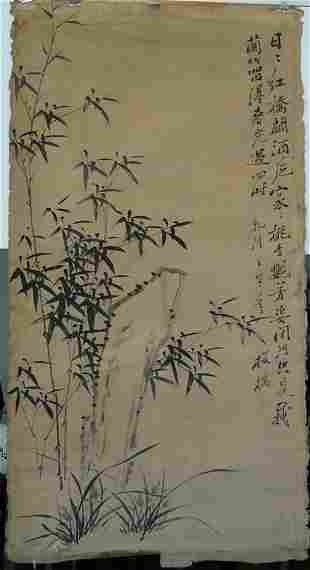 CHINESE ANTIQUE PAINTING QING ZHENG BANQIAO