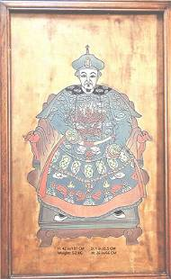RARE! CHINESE ANTIQUE HAND CARVED QING EMPEROR PORTRAIT
