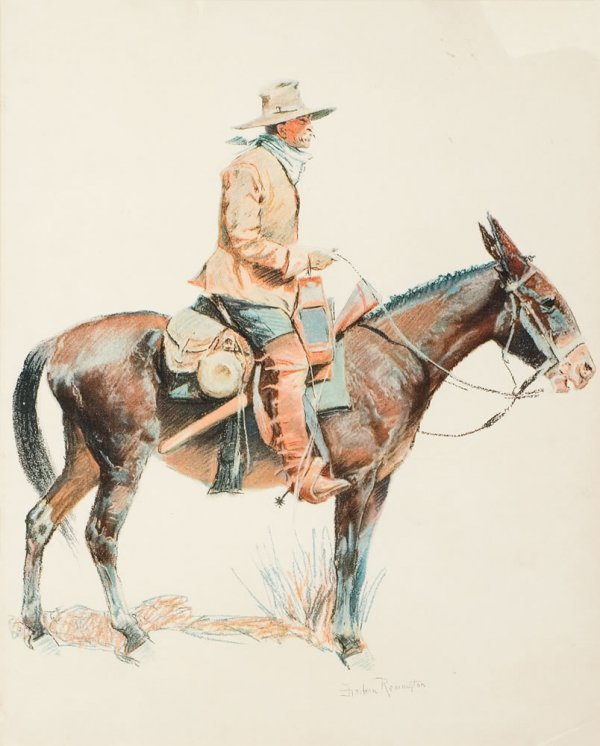 8G: Remington, Frederic: Army Packer