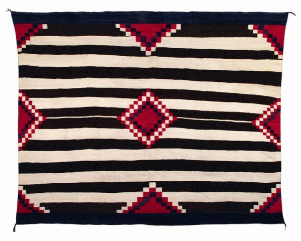 501: A Navajo Chief's blanket, last quarter of the 19th