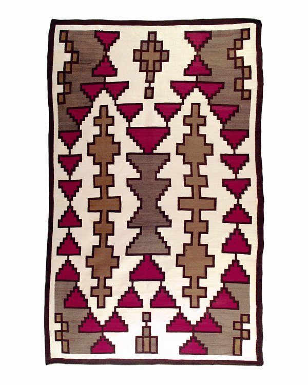 505: A large regional rug, second quarter of the 20th c