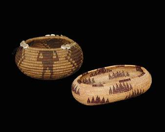 519: Two Pomo miniature baskets, first quarter of the 2