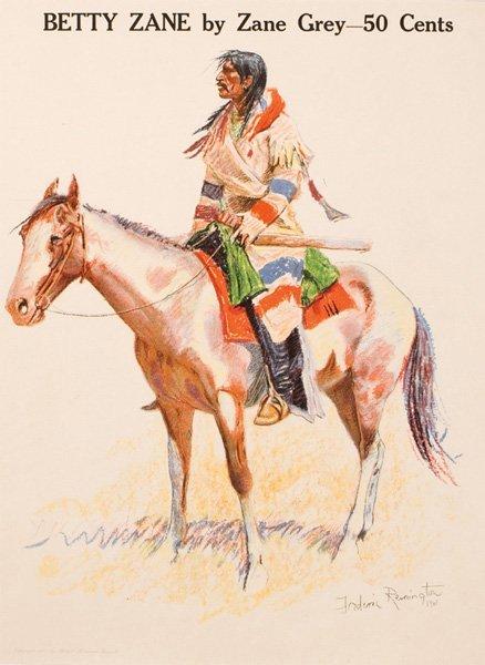 1B: Frederic Remington 1861-1909; A Breed ; Lithograp
