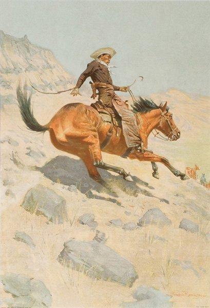 2C: Frederic Remington 1861-1909; The Cowboy ; Lithog