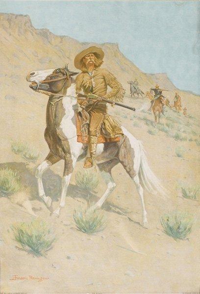 2D: Frederic Remington 1861-1909; The Scout ; Lithogr