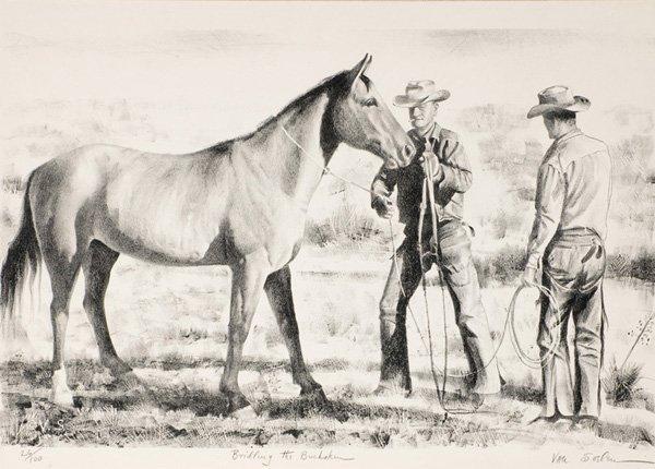 9: Theodore Van Soelen 1890-1964; Bridling the Bucksk