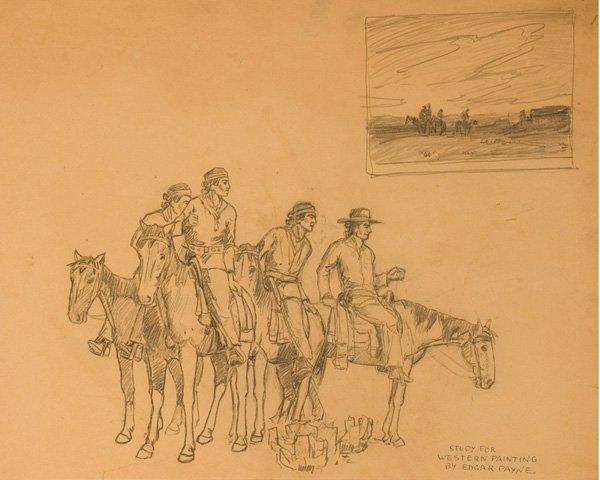 12: Edgar Alwin Payne 1883-1947; Study for Indian Hor