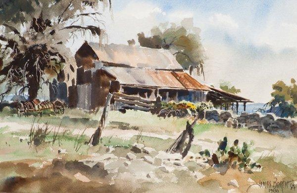 18: James Boren 1921-1990; Hill Country ; Watercolor;
