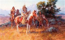 217: Roy Andersen b. 1930; The Wolves' Advice ; Oil;
