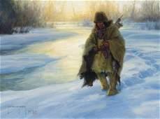 230: Robert Duncan b. 1952; Along Frozen Trails ; Oil