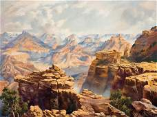 287: Curt Walters b. 1950; Clouds over the Canyon ; O