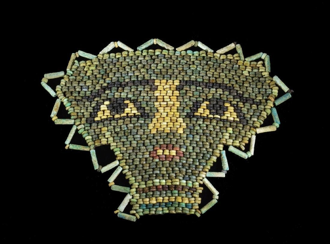 Egyptian Faience Beaded Mummy Mask