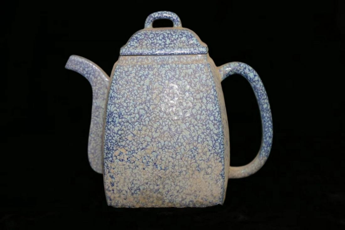 Chinese Lu Jun Glaze Porcelain Pot