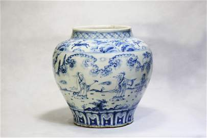Chinese Chinese blank period of Ming Dynasty Blue and