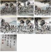 Chinese Xu Beihong'S Painting On Paper