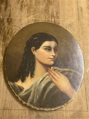 Study Of  Greek Woman By Jean Baptist Grueze